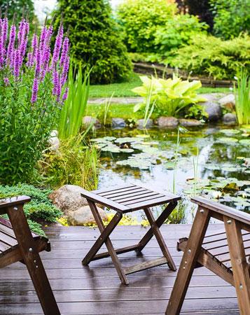 Un bassin de jardin original